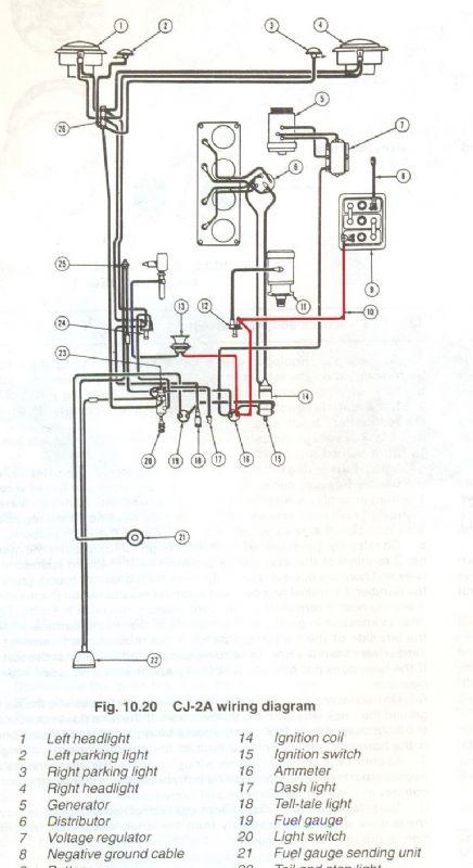 ammeter wiring diagram cj2a