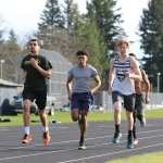 Track prepares to run at Linfield