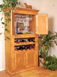 Wine cabinet woodworking plans, king size bed woodworking ...