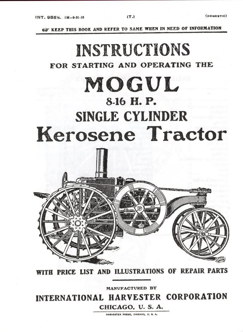 Farm Tractor Catalog, Massey Harris, Twin City, Rumely
