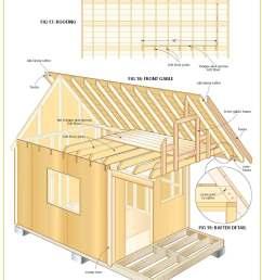 free wood cabin plans [ 1464 x 1897 Pixel ]