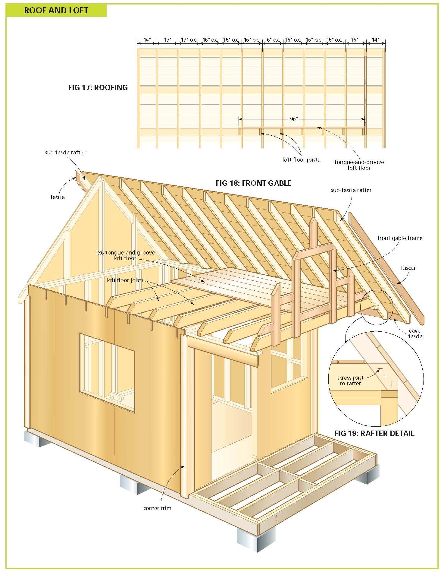 hight resolution of free wood cabin plans