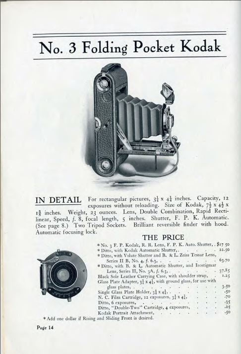The History of Kodak Cameras, Antique Advertising, Manuals