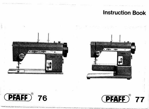 Vintage PFAFF Sewing Machine Instruction Books Service