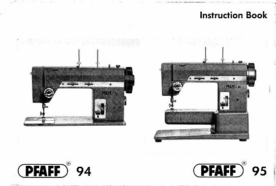 PFAFF Sewing Machine Instruction Books, Service Manuals