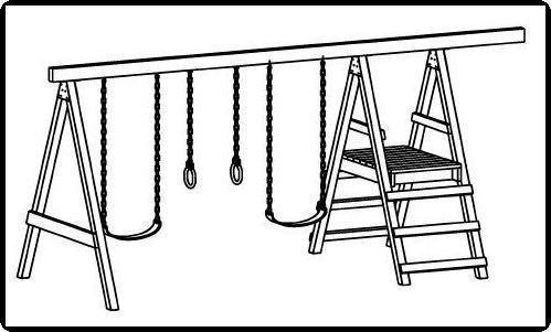 CAD Design Jungle Gym Plans, Swing Set Play Equipment, How