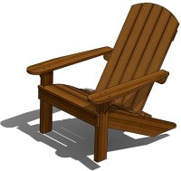 Adirondack Deck Chair, Outdoor Wood Plans, DOWNLOAD