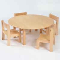 Nursery Round Wooden Table & Chairs (210SH) Package