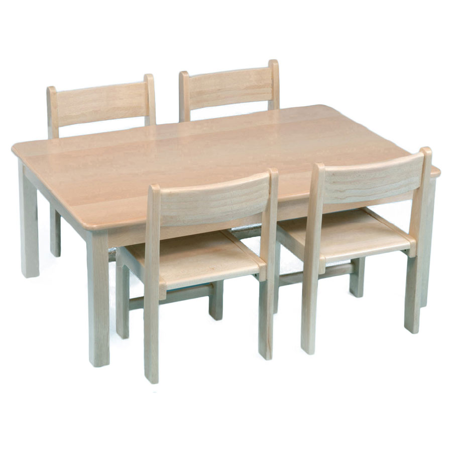 Childrens Rectangular Solid Wooden Table 960 x 690mm