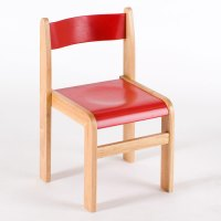 Tuf Class Wooden Chair Red (Pack of 2)