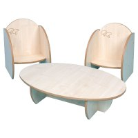 """""""Mini"""" Children's Small Wooden Table & Chairs"""