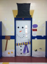 decorate a classroom door for winter | just b.CAUSE