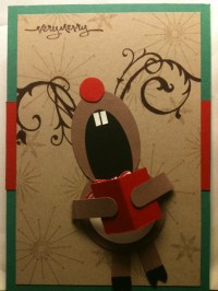 school door decorations xmas reindeer