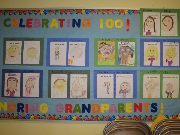 100th Day of School Bulletin Board Idea