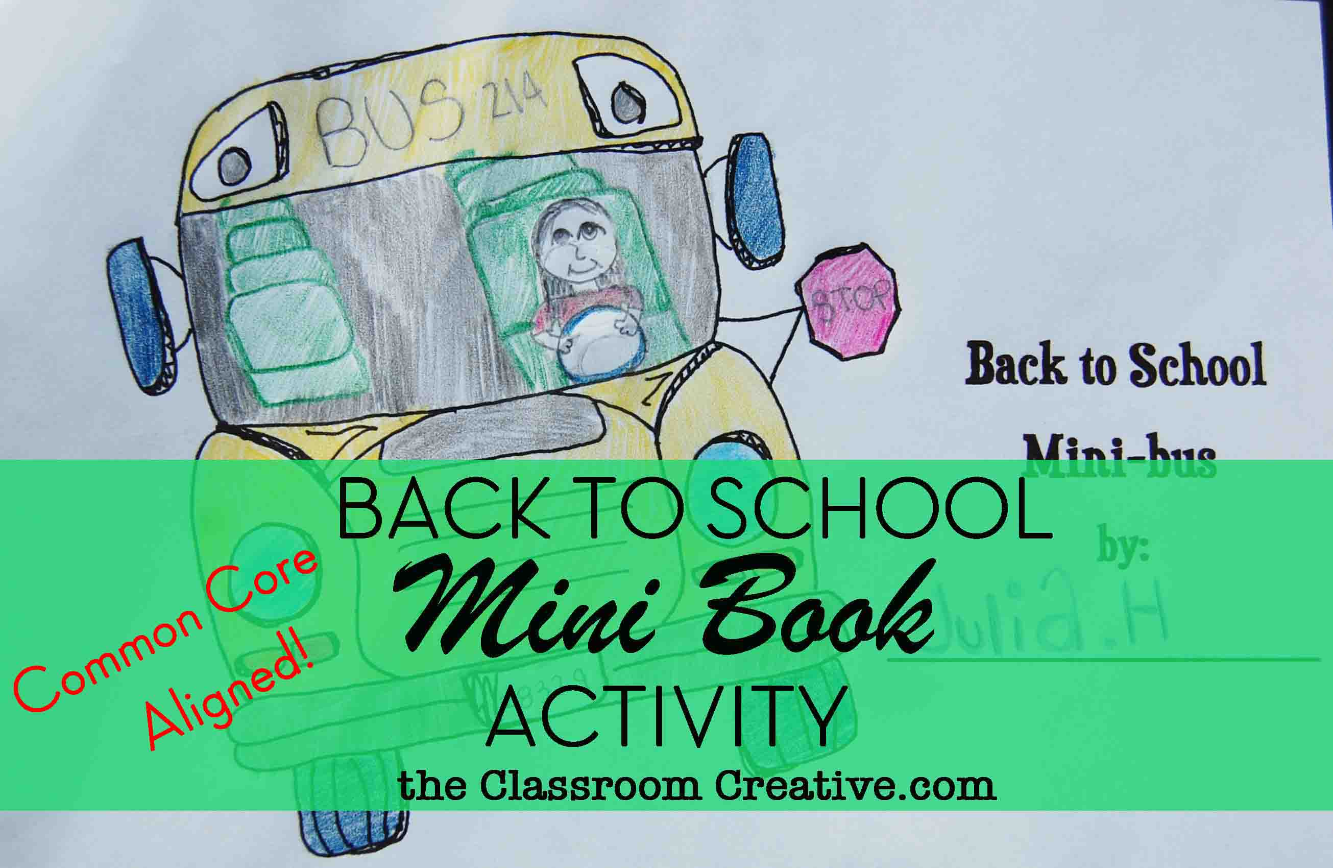 First Day Of School Writing Activity Back To School Bus Mini Book