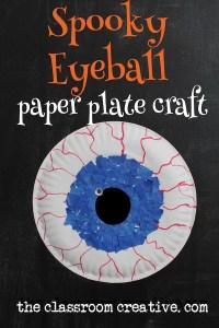 Halloween Paper Plate Spooky Eyeball Craft
