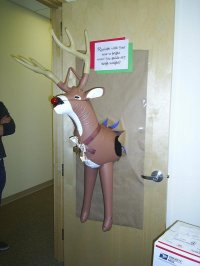 Funny Christmas Door Decorating Contest