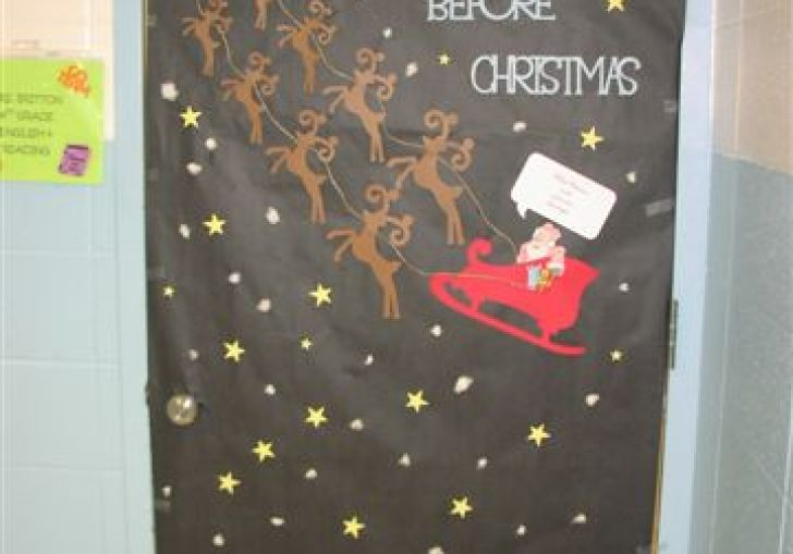 Funny Christmas Office Door Decoration