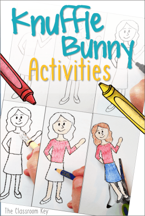 Knuffle Bunny activities for elementary teachers including a reading comprehension idea and an art project, 1st and 2nd graders love this!