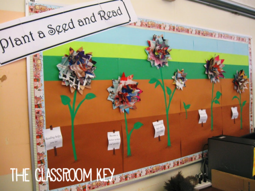 Bulletin Boards 101: Plant a Seed and Read flower bulletin board
