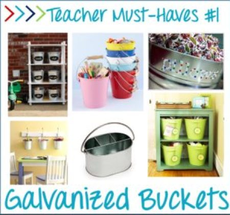 Teaching must haves - galvanized buckets