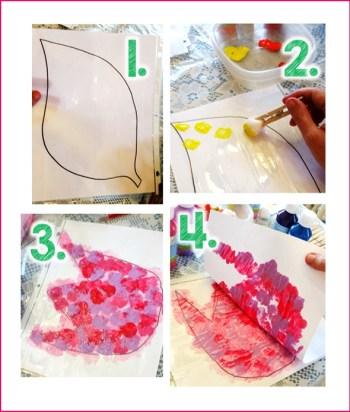 spring flower printmaking for kids