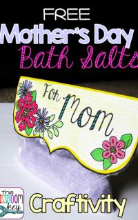 FREE Mother's Day bath salts craftivity