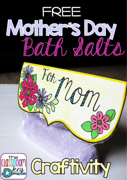 FREE Mother's Day bath salts craft