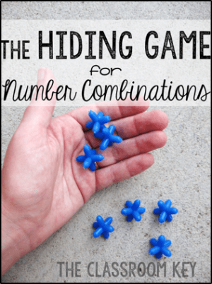 The Hiding Game, a fun and easy game that helps students internalize number combinations