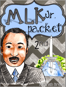 Martin Luther King Jr. Day Activities ($) No-prep reading, writing, and math activities for honoring the life of MLK Jr. in the second grade classroom