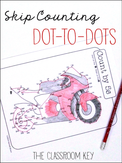 skip counting dot to dots