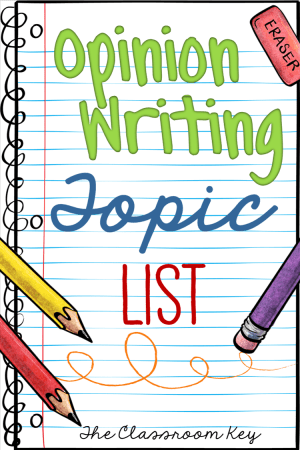 opinion writing topics