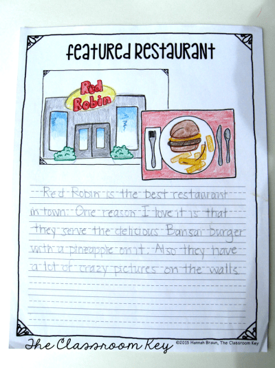 opinion writing restaurant review