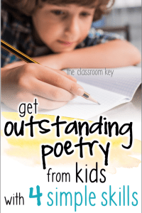 Teach poetry writing to kids in elementary schools with these four easy skills #poetry #literacy #teachingwriting #2ndgrade #3rdgrade