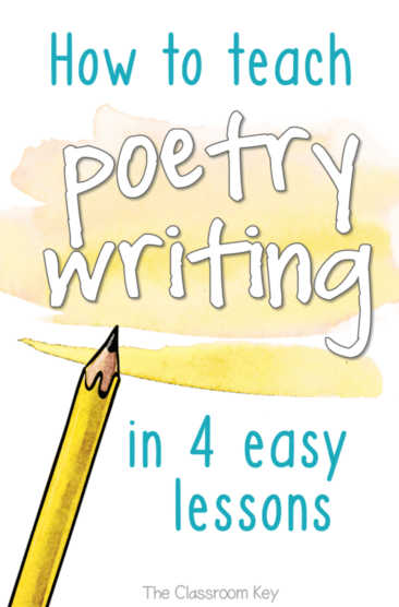 How to Teach Poetry Writing in 4 Easy Lessons, especially designed for elementary teachers