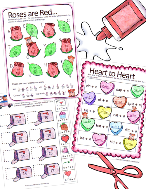 small resolution of Valentine's Packet 1st - The Classroom Key