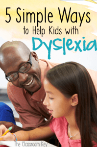5 Simple Ways to Help Kids With Dyslexia - quick strategies, interventions, and activities to improve reading skills, helpful for teachers and parents #dyslexia #teachingreading #intervention