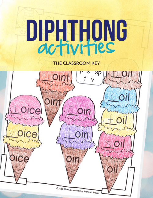 small resolution of Diphthong Activities - The Classroom Key