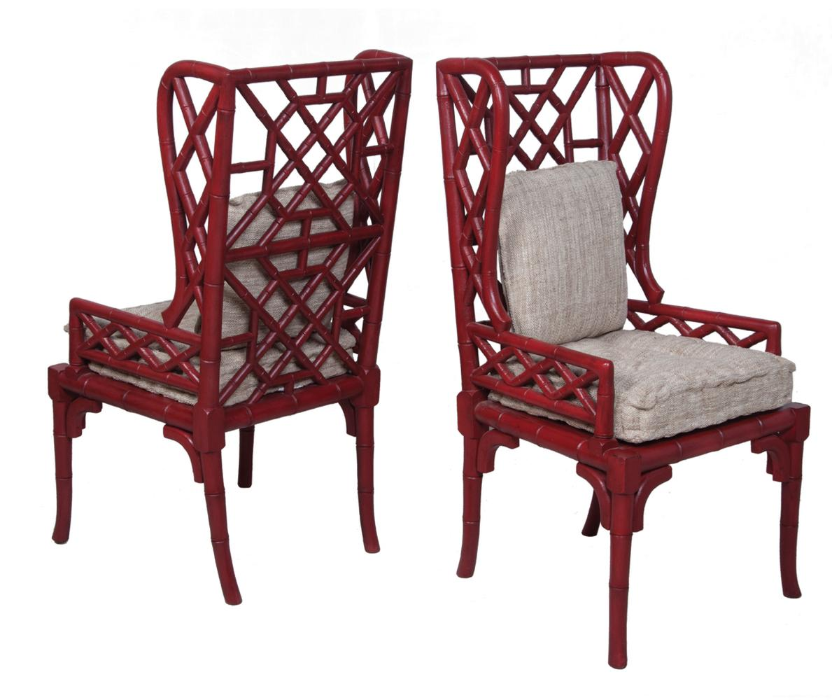 red wing chair cane barrel makeover timeless classics set of 2 bamboo back heritage