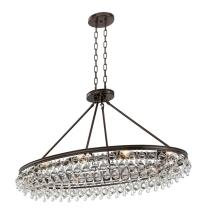 Crystorama Calypso 8 Light Crystal Teardrop Vibrant Bronze ...