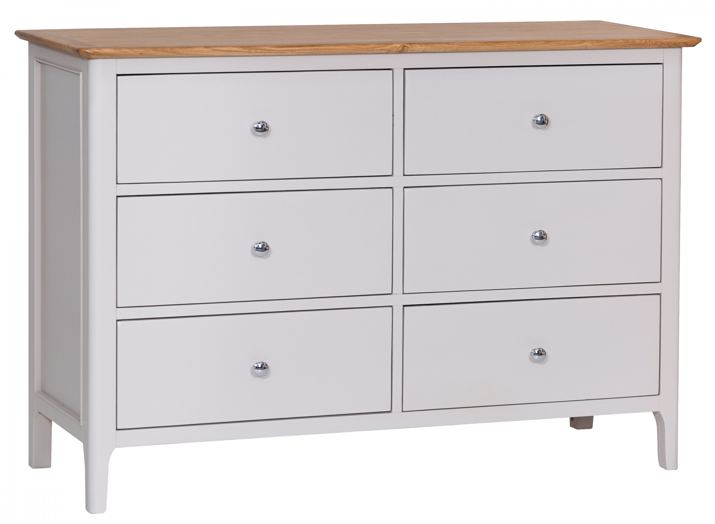 Nordby Painted Bedroom 6 Drawer Chest The Clearance Zone