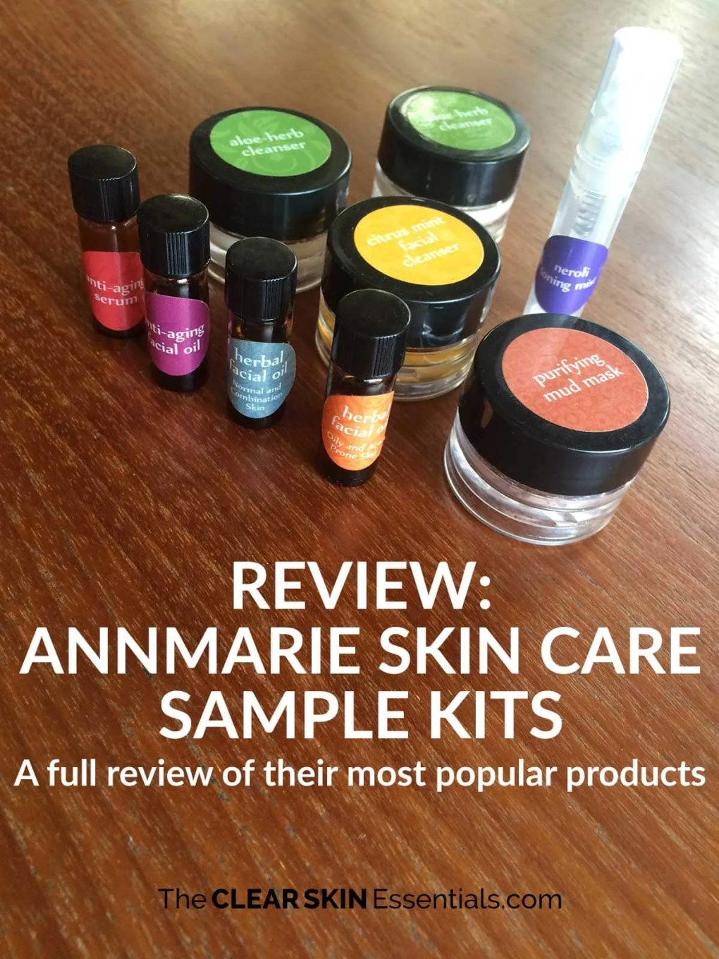 Annmarie Skin Care makes beautiful, high quality natural skin care products. They offer 3 sample kits for combination, oily, and dry skin. Click through to read the full review (my personal favourite is the Neroli Toning Mist - heavenly!) | www.TheClearSkinEssentials.com