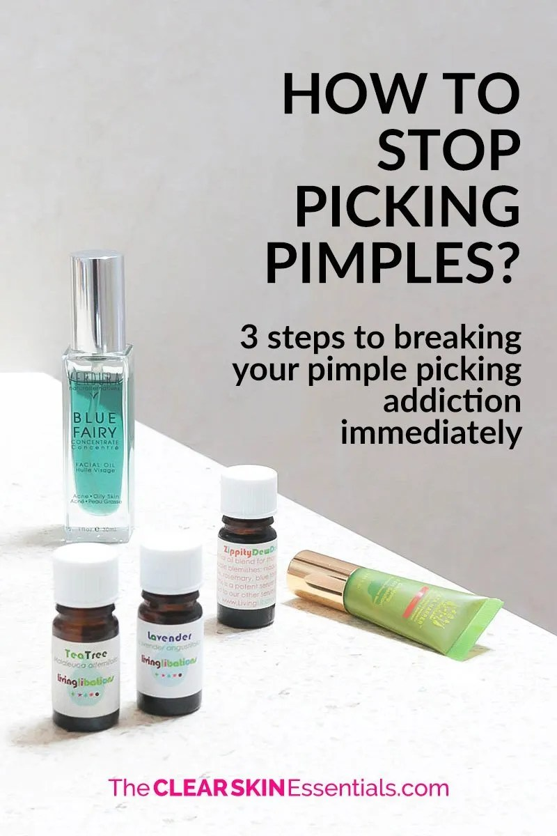 Want to know how to stop picking pimples? We all know how bad of a habit it is (sometimes it can even feel like an addiction, you just can't stop). But picking pimples, zits, blackheads, and breakouts is the worst. It's not going to help blemishes heal faster and it's probably going to leave marks and scars behind. Click through to find out how you can stop now, and never pick pimples again. | www.TheClearSkinEssentials.com