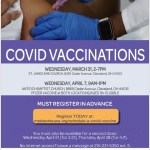 Covid-19 vaccine clinics at St. James AME and Antioch Baptist Church
