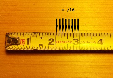How to read a tape measure and tape measure increments sixteenths
