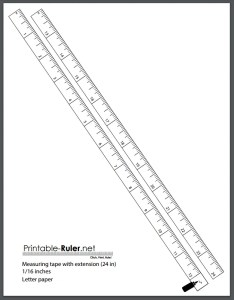 free printable measuring tape for homeowners