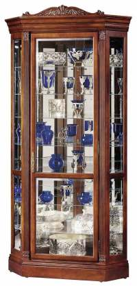 Howard Miller Embassy II 680-290 Corner Curio Cabinet ...