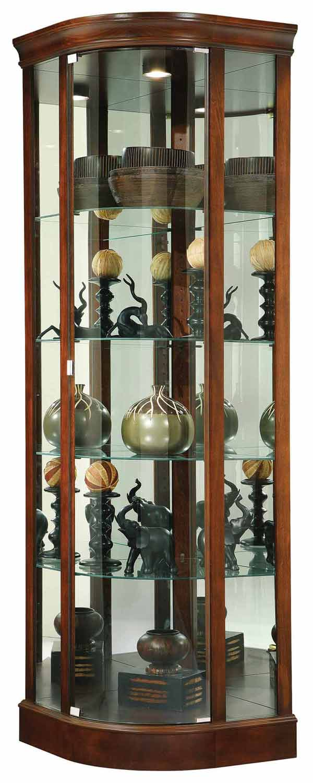 Howard Miller 680529 Marlowe Corner Curio Cabinet  The