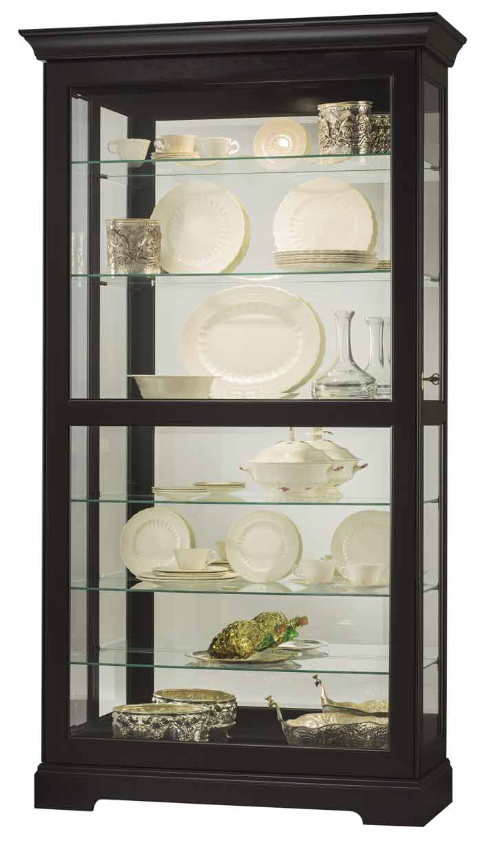 Howard Miller Tyler II 680538 Black Curio Cabinet  The