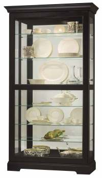 Howard Miller Tyler II 680-538 Black Curio Cabinet - The ...
